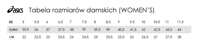 Tabela rozmiarów Asics TrygonSport.pl sport & street