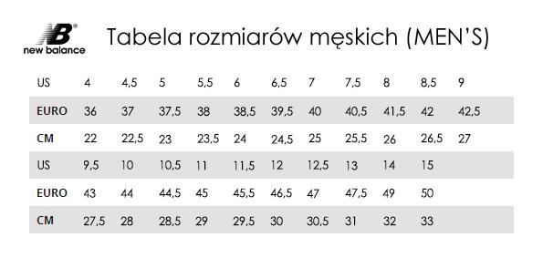 Tabela Rozmiarow New Balance Trygonsport Pl Sport Street