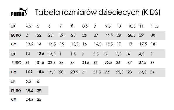 Tabela rozmiarów Puma TrygonSport.pl sport & street